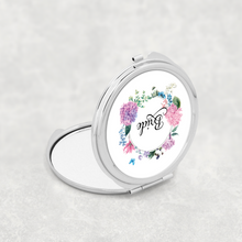 Bride Floral Wreath Wedding Compact Mirror