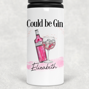 Could be Gin Personalised Straw Water Bottle 650ml