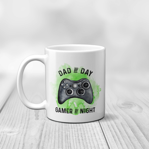 Gamer Personalised Father's Day Mug Dad By Day Gamer By Night