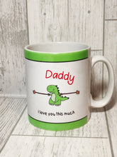 Daddy I love you this much T-rex Mug - Mug - Molly Dolly Crafts