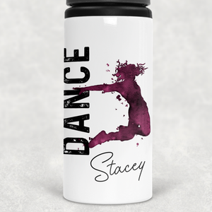Dance Personalised Straw Water Bottle 650ml