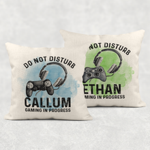 Gamer Personalised Cushion Do Not Disturb Gaming in Progress Cover