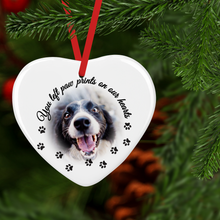 Pet Memorial Double Sided Ceramic Round or Heart Christmas Bauble