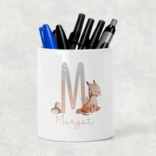 Dragon Alphabet Watercolour Pencil Caddy / Make Up Brush Holder