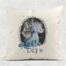 Dragon Always Be Yourself Personalised Cushion Linen White Canvas