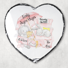 Elephant/Rabbit Baby Birth Stat Personalised Slate