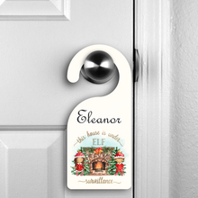 This House is Under Elf Surveillance Personalised Christmas Door Hanger