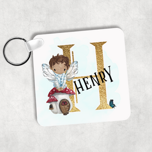 Fairy Alphabet Personalised Keyring Bag Tag