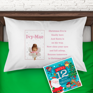 Fairy Personalised Christmas Eve Pillow Case & Book