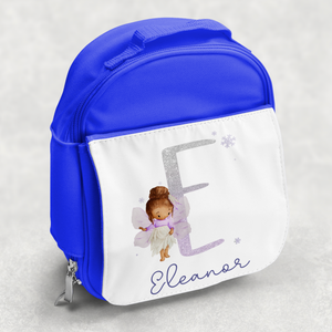 Fairy Glitter Alphabet Personalised Kids Insulated Lunch Bag