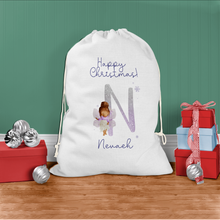 Fairy Lilac Glitter Personalised Christmas Santa Sack