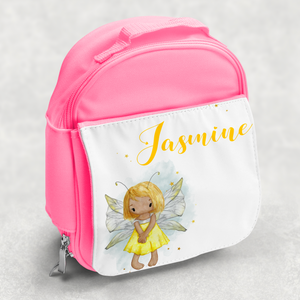 Yellow Fairy Personalised Kids Insulated Lunch Bag