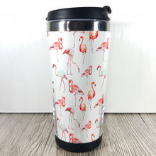 Flamingo 420ml Travel Mug with Option to Personalise - Travel Mug - Molly Dolly Crafts