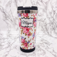 Floral 420ml Travel Mug with Option to Personalise - Travel Mug - Molly Dolly Crafts