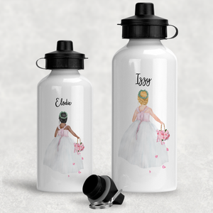 Flower Girl Personalised Wedding Aluminium Water Bottle 400/600ml
