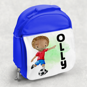 Football Personalised Kids Insulated Lunch Bag