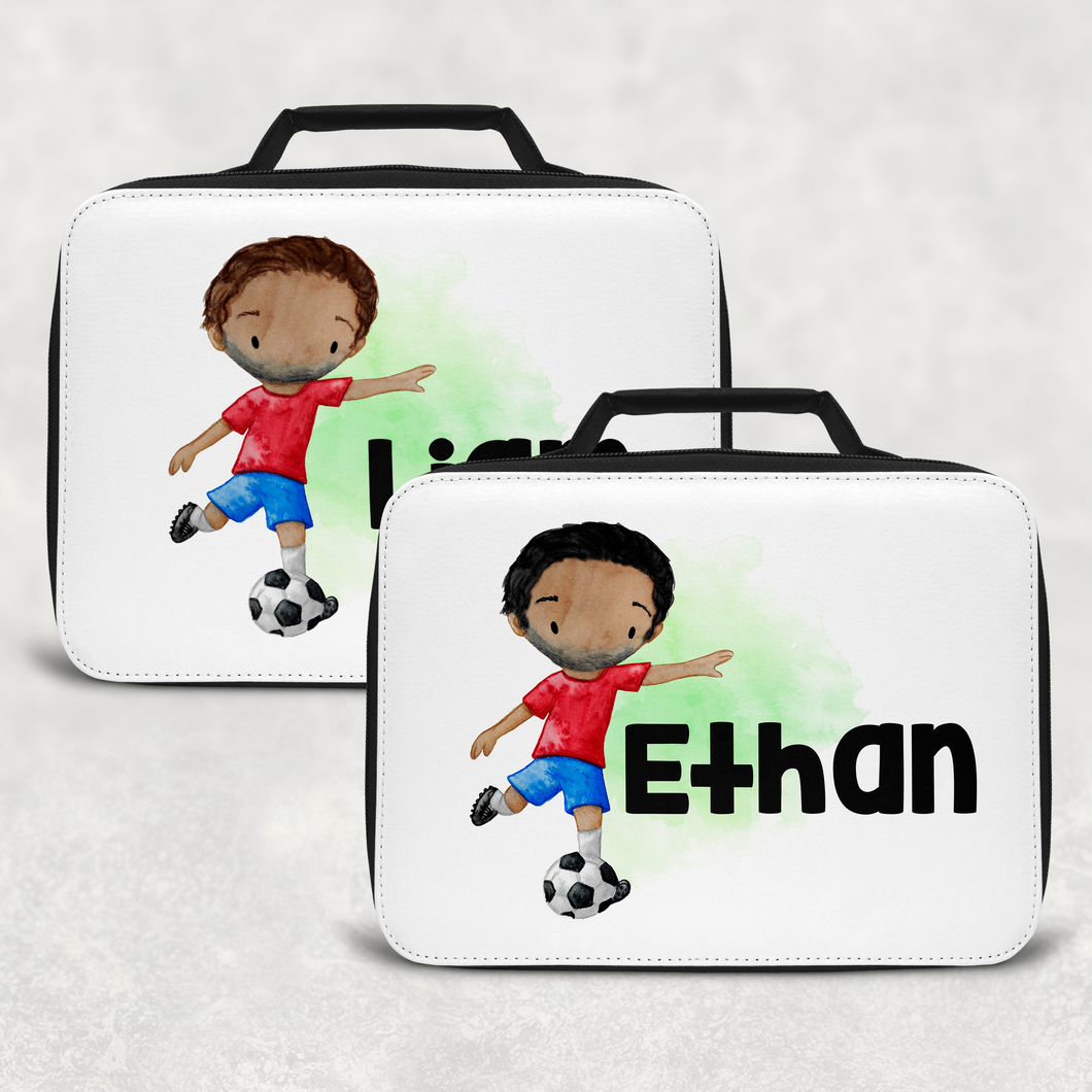 Football Personalised Insulated Lunch Bag