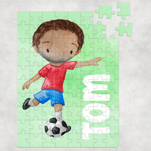 Football Personalised Jigsaw Various Sizes & Pieces