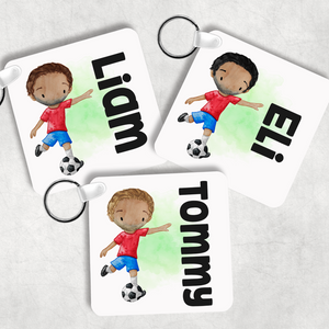 Football Personalised Keyring Bag Tag