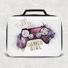 Gamer Girl Floral Game Control Insulated Lunch Bag