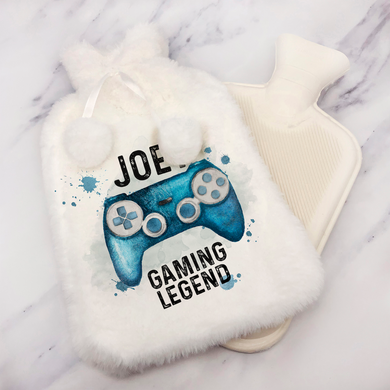 Gaming Legend Personalised Hot Water Bottle