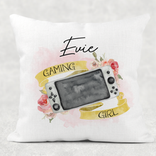 Gamer Girl Personalised Cushion