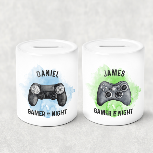 Gamer Personalised Money Savings Pot