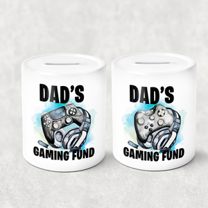 Dad's Gaming Fund Personalised Money Savings Pot