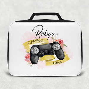 Gaming Girl Game Control Insulated Lunch Bag