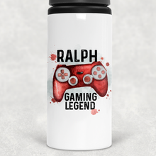 Gaming Legend Personalised Straw Water Bottle