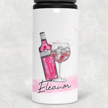 Gin Personalised Straw Water Bottle 650ml