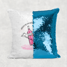 Ginspirational Gin is the Answer Personalised Mermaid Sequin Cushion