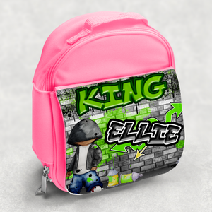 Graffiti Artist Personalised Kids Insulated Lunch Bag