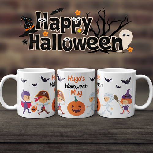 Personalised Halloween Kids Unbreakable Mug - Mug - Molly Dolly Crafts