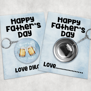 Cheers for Being the Best Dad Father's Day Badge Button Bottle Opener