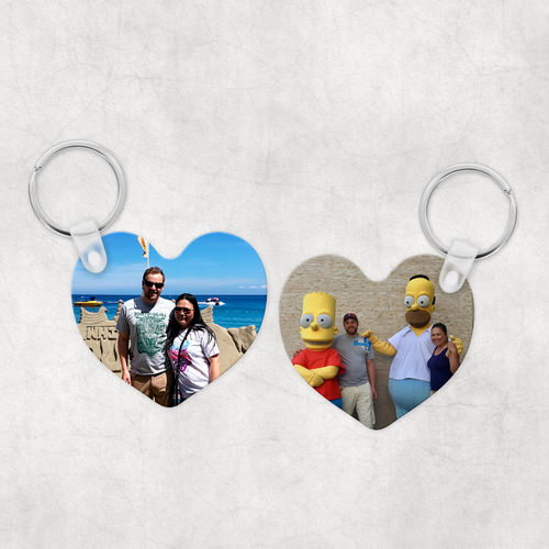 Photo Heart Keyring Single & Double Sided