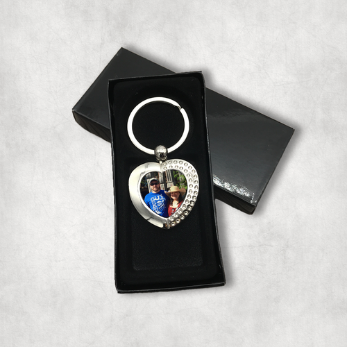 Photo Heart Keyring With Presentation Box