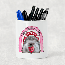 Hedge Hug Valentine's Day Pencil Caddy / Make Up Brush Holder