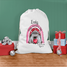 Hedgehug Personalised Valentine's Day Gift Sack
