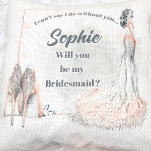 I Can't Say I Do Without You Will you be my Personalised Wedding Mermaid Sequin Cushion