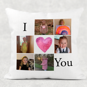 I Love You Hug Isolation Comfort Cushion Linen White Canvas