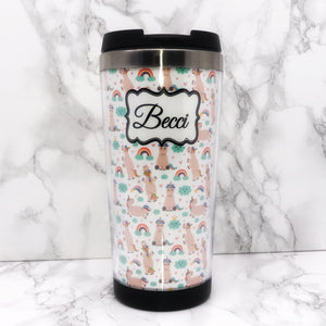 Unicorn 420ml Travel Mug with Option to Personalise - Travel Mug - Molly Dolly Crafts