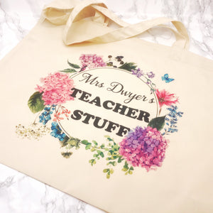 Teacher Stuff Personalised Tote Bag Teacher Gift