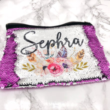 Boho Floral Mermaid Sequin Personalised Bag -  - Molly Dolly Crafts