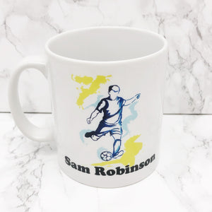 Personalised Football Watercolour Mug | Ceramic and Unbreakable Polymer - Mug - Molly Dolly Crafts