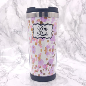 Polka Dot 420ml Travel Mug - Travel Mug - Molly Dolly Crafts