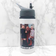 Personalised Photo Straw Water Bottle 650ml
