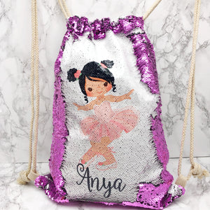Ballet Personalised Mermaid Sequin PE School Bag