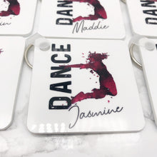 Dance Personalised Keyring Bag Tag