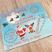 Personalised Christmas Eve Santa's Treats Placemat